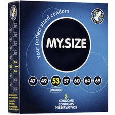 """Презервативи """"MY SIZE"""" 3 бр. 53 мм. за пениси 11 - 12 см. Презервативи"""