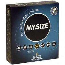 """Презервативи """"MY SIZE"""" 3 бр. 57 мм. за пениси 11.5 - 12 см. Презервативи"""