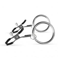Щипки за зърна с метални пръстени Садо-Мазо / B.D.S.M.