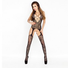 Bodystocking with deep neckline Бельо за нея