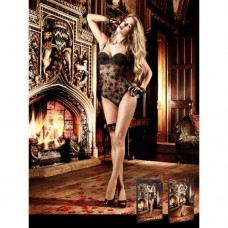 Floral Negligee Black