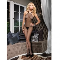 Halter Bodystocking Blk Бельо за нея