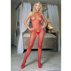 Halter Bodystocking Red Бельо за нея